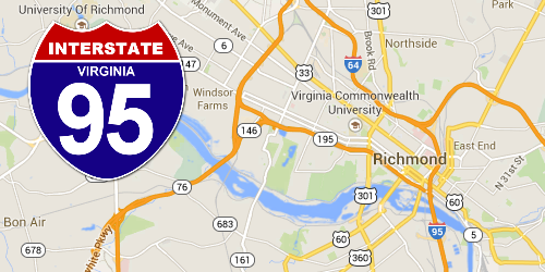 Virginia Construction | I-95 Exit Guide